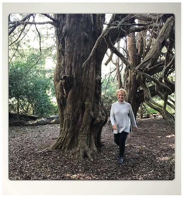 Liz walking